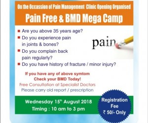 Pain-Free and BMD Mega Camp on the occasion of Pain Management Clinic Opening